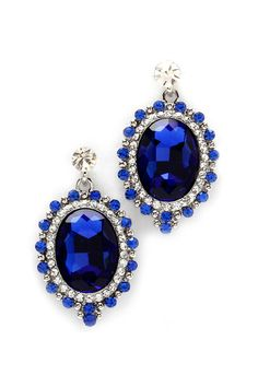 Sapphire Crystal Andrea Earrings | Awesome Selection of Chic Fashion Jewelry | Emma Stine Limited
