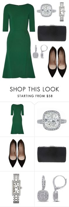 """""""First official engagement since engagement announcement"""" by hrhalexandria ❤ liked on Polyvore featuring Roland Mouret, Stuart Weitzman, Nina, Cartier and Miadora"""