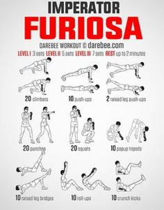 Imperator Furiosa Workout Everyone who saw Mad Max: Fury Road realizes that… Imperator Furiosa, Darebee, Gym Gear, Gym Motivation, Squats, Fitness Inspiration, Kicks, Yoga, How To Plan