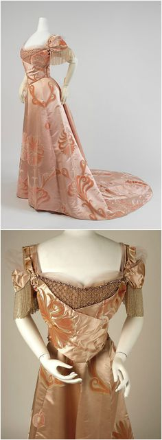 Evening dress, by Jean-Philippe Worth, 1898-1900, at the Met. See: http://www.metmuseum.org/collections/search-the-collections/81751?img=0