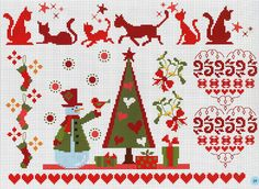 ru / Фото - A punto croce 34 - Los-ku-tik Christmas Tree Pattern, Christmas Sewing, Christmas Embroidery, Christmas Knitting, Christmas Cross, Cross Stitch Borders, Cross Stitch Charts, Cross Stitching, Cross Stitch Patterns