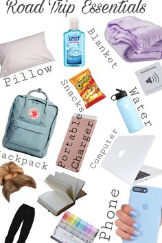 Airplane Essentials, Travel Bag Essentials, Road Trip Essentials, Road Trip Hacks, Travel Packing Checklist, Packing List For Vacation, Packing Tips, Suitcase Packing, Vacation Travel