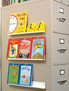 Magnetic Channels - Space saving! Display books on filing cabinets, desk fronts and more. [We don't carry this product anymore - but we've linked to a similar one!]
