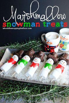 Christmas Recipes: Marshmallow Snowman Treats
