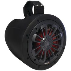 "Mb Quart Nautic Series 2-way Wake Tower Speaker With Matte Black Finish & Mounting Hardware (6.5"" 120 Watts With Led Illumination)"