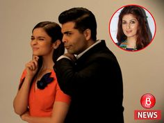 Karan Johar thinks Alia Bhatt would be perfect to play Twinkle Khanna in his biopic Twinkle Khanna, Twinkle Twinkle, Karan Johar, Alia Bhatt, Be Perfect, Bubble, Bollywood, Best Friends, Play