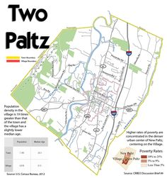 There are two New Paltzs, the town and the village. The village has a mayor, the town, a supervisor. Each has its own planning board and zoning board, they decide who builds what where and how. There are two property tax rates, which, if you're a student renter, contribute to how much you pay in ren