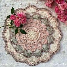 Crochet Gloves Pattern, Crochet Doily Diagram, Crochet Mandala, Crochet Poncho, Thread Crochet, Crochet Stitches, Crochet Placemats, Crochet Doilies, Crochet Flowers