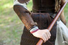 Viking Leather Bracers Shieldmaiden Pair Arm