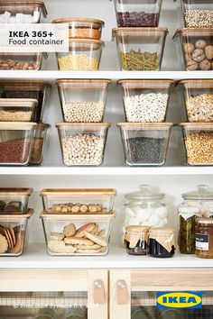 Sort it out and prevent food waste by using IKEA food storage containers. They are compact and reusable, allowing you to keep food fresher for longer.