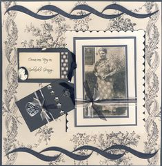 Granny ~ Monochromatic heritage page with a beautiful vintage border.