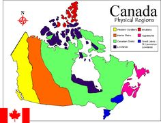 Physical Regions Map