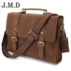 Hot Selling Crazy Horse Cow Leather Mens business Briefcase Laptop Bag vintage shoulder Messenger Bag for men handbag (32284964349)  SEE MORE  #SuperDeals