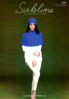 Sublime 6102 Knitted Cable Cape and Hat. Knit out of DK ( weight yarn. Crocheting Patterns, Knit Or Crochet, Shawls, Yarns, Cape, Scarves, Purses, Country, Knitting