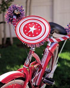 July 4th Bike Parade ideas and printables @Martha Stewart