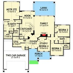 The most perfect floor plan ever except I'd turn the smaller master walk-in into a walk-in shower... Purrrrrrrr!
