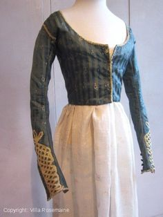 "Early Regency French ""Merveilleuses"" caraco - late 18c - 