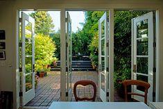 schicke Ferienhäuser-im mediterranen-Stil französische-Türen