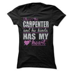 Carpenter Has My Heart T Shirts, Hoodies. Check price ==► https://www.sunfrog.com/Funny/Awesome-Carpenter-Shirt-27386111-Guys.html?41382 $22