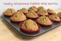 pumpkin muffins with ground flax seed, whole wheat flour and old fashioned oats