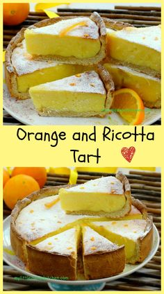 An aromatic tart with ricotta and orange, really delicious!