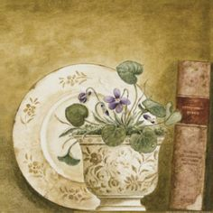 Potted Flowers with Books VIII (Eric Barjot)