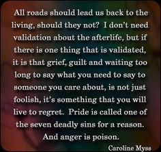 #CarolineMyssticism For those whose bubble of life revolves around their idea of self insulation..Life and Death IS a painful reality. Whoever makes the choice to alienate families and loved ones because they are too fragile and hurt because of emotional insecurities are not building heirs but destroying the very structure of principle of life.. FAMILY.. Read Powerful Thoughts on Life and Personal Truth by Caroline Myss