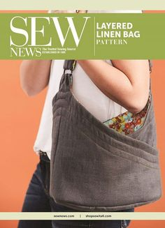Create a rustic linen bag packed full of useful pockets for a timeless look that's perfect for your next adventure!