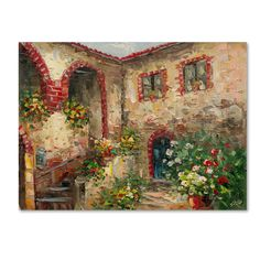 Rio 'Tuscany Courtyard' Canvas Art | Overstock™ Shopping - Top Rated Trademark Fine Art Canvas