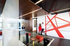 #Office #Design #Red #Ligne #Rouge #bafco #bafcointeriors Visit www.bafco.com for more inspirations.