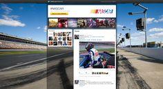Screen shot of new NASCAR/Twitter live experience platform