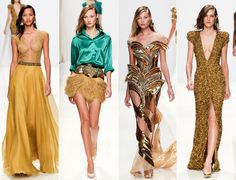 PFW Spring 2014 Trends: Cool Colors and Prints - Have a look at the coolest highlights from Valentino, Giambattista Valli, Elie Saab, Alexander McQueen and Vionnet.