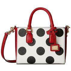 Dolce & Gabbana Polka Dot Doulble Handle Mini Bag ($1,625) ❤ liked on Polyvore featuring bags, handbags, purses, borse, сумки, polka dot, handbag purse, leather purses, genuine leather purse and genuine leather handbags