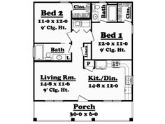 Printer Metal Technology Building A House Architecture Design Code: 1940520438 Cottage Floor Plans, Small House Floor Plans, Country House Plans, 900 Sq Ft House, Cottage House Designs, Small Cottage Homes, Small Homes, Home Addition Plans, Basement Layout