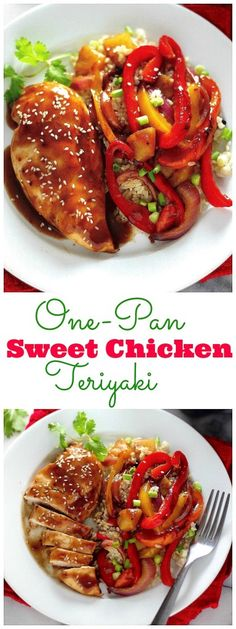 So easy and delicious! One-Pan Sweet Teriyaki Chicken! Ready in 40 minutes! - pretty good but this is the same exact recipe on the package. Turkey Recipes, Chicken Recipes, Dinner Recipes, Teriyaki Chicken, Asian Cooking, Quick Meals, Asian Recipes, Cooking Recipes, What's Cooking