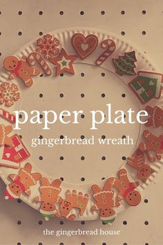 Paper plate gingerbr