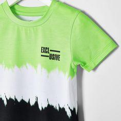Mini boys green faded T-shirt - Baby Boys Tops - Mini Boys - boys Hang Ten, Lower T Shirt, Baby Boy T Shirt, Baby Boys, Boys T Shirts, T Shirts For Women, Zara New, Kids Fashion Boy, Summer Boy