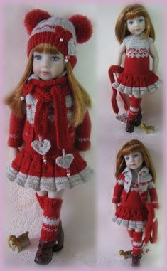 "Outfit ""Valentines Day"" for Dianna Effner Little Darling, mini Pal Maru 13,Betsy #Madebyme"