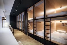 Inbox Capsule Hotel Drawing inspiration from the Japanese concept, the Inbox Capsule Hotel is an introvert-friendly way to get the hostel experience. The Saint Petersburg property offers three& The post Inbox Capsule Hotel appeared first on Travel. Bunk Rooms, Bunk Beds, Sleep Box, Sleeping Pods, Capsule Hotel, Modern Interior, Kitchen Interior, Interior Design, Architecture Design