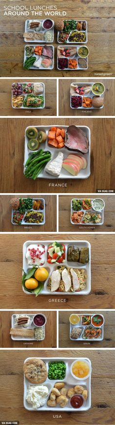 School Lunches Around The World. There is a large variety of foods eaten in European and each are unique in there own way
