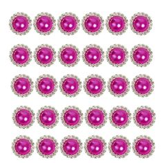 2013newestseller 30pcs Beautiful Rose Red Crystal Metal Rhinestone Pearl Bottons Buckles DIY Sewing Fasteners Accessories ** Find out more about the great item at the image link.