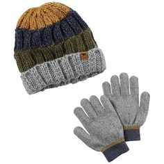 Boys 8-20 Carter s Colorblock Cable Knit Beanie  amp  Gloves Set b27ebf165956