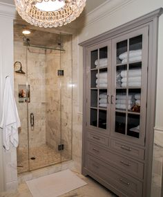 Inspired Linen Closet method Dc Metro Traditional Bathroom Inspiration with bathroom cabinet built-in glass shower door gray cabinet marble master bathroom rain shower head