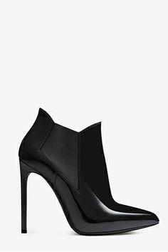 What Your Favorite Shoe Says About You #refinery29  Saint Laurent Class Paris 110 Ankle Boot, $950, available at Saint Laurent.