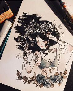Sailor Neptune by Sailor Scouts, Manga Comics, Art Sketches, Art Drawings, Fantasy, Illustration Art, Illustrations, Sailor Neptune, Desenho Tattoo