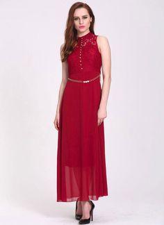 Arresting Red Georgette Party Wear Western Gown - Luxefashion Internet Inc