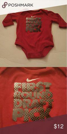 Onesie Red. Nike onesie Nike Shirts & Tops Tees - Long Sleeve