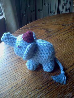 I made this Amigurumi Teeny Tiny Elephant for my sister...smile!