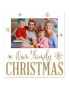 Malden International Designs  Our Family Christmas 4x6 Frame