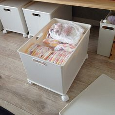 Lounge,テレビボードDIY,テレビ台DIY,おむつ収納,インボックス,ニトリ,新築,ナチュラル naoの部屋 Kitchen Cabinet Organization, Home Organization Hacks, Bathroom Storage, Kitchen Storage, Muji Storage, Home Office Space, Interior Exterior, Dream Decor, Home Decor Bedroom